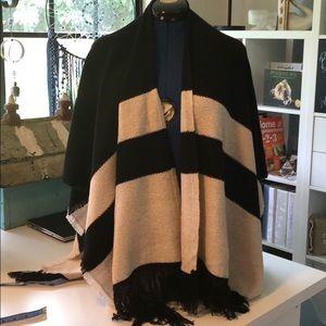 Loft Black/Tan Sweater Kimono